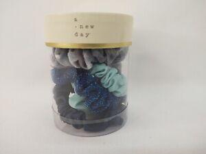 A New Day™ Multi-Color Mini Twister Scrunchie Set 4pc - Blues/Gray