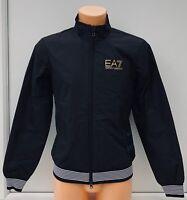 EMPORIO ARMANI EA7 Black Fleece Lined Gold Logo Bomber Jacket Sizes XS & M BNWT