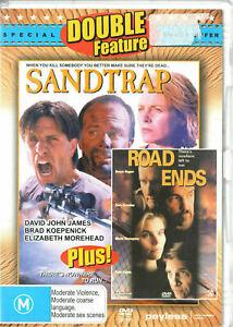 Road Ends DVD 1997 + Sand Trap (1998) THRILLER MOVIE DOUBLE Dennis Hopper