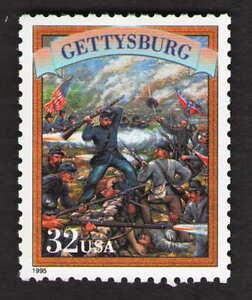 US. 2975t. 32c. Battle of Gettysburg. Civil War. MNH. 1995