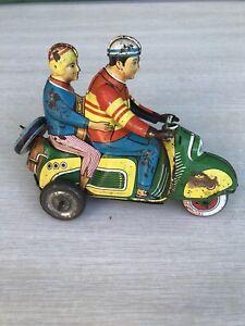 Jouet ancien tôle rare moto Technofix scooter 282 années 50 Joustra Germany