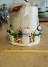 Nwts Snowman Pillar Candle & Holder Set, retail $24.99