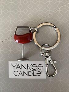 "Yankee ""Wine Glass"" Keyring/Handbag Charm -Charming Scents Collection - Free P&P"