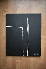 """André MARFAING (1925-1987) """"composition abstraite"""" acrylique sur toile signée"""