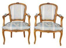 Paire de cabriolet et de style Louis XV  en hêtre