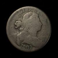 1807/6 DRAPED BUST 1C LARGE CENT - LARGE 7/6 ** FULL OVERDATE! Lot#X259