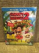Cloudy With A Chance Of Meatballs 2, 3d Blu Ray, 2 Disc Set. New Sealed.