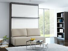 Schrankbett Wandbett mit Sofa Leggio Linea STD Classic 160 x 200 cm  Eiche Weiß