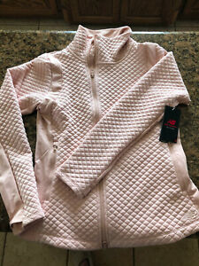 NWT Beautiful Rose Gold Color $119.99 New Balance Heat Loft Jacket Women M Pink