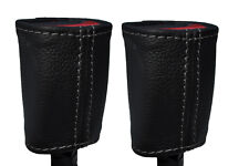GREY STITCH 2X SEAT BELT STALK LEATHER SKIN COVERS FITS KIA SOUL 2009-2014