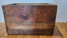 Vintage  REMINGTON EXPRESS Wooden Shotgun Shell CRATE Box 12 GA RX12-4