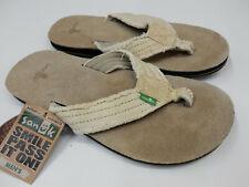 Sanuk Mens Sandals Fraid Not Natural Size 8