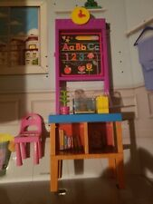 New Barbie Teacher Classroom Accessories,Board Student Desk