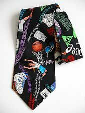 Rare Vtg 90s Nicole Miller ASICS Sneakers BasketBall Shoes Graphic Hip Hop TIE