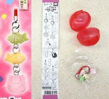 Natsume Yuujinchou Nyanko-Sensei Sweets Strap Ver F Fish & Kitty Face T-ARTS NW