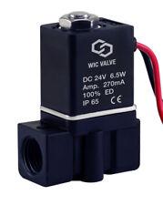 Plastic Electric Fast Acting Zero Differential Solenoid Valve 24V DC 1/4