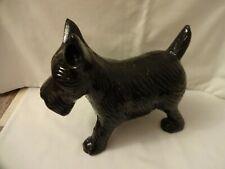 More details for vintage heavy cast iron black terrier dog door stop height 20 cm weight 4.5 kilo