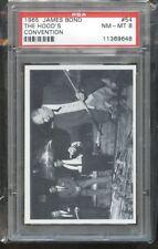 1965 GLIDROSE JAMES BOND #54 THE HOODS CONVENTION PSA 8 E018504