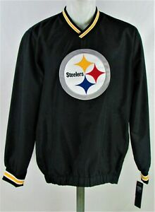 Pittsburgh Steelers G-III NFL Men's Black/Yellow V Neck Pullover Track Jacket