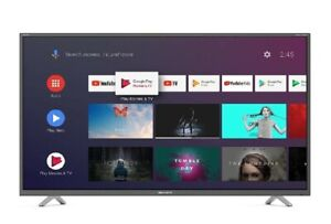 """Sharp 4T-C40BL2KF2AB 40"""" Smart 4K Ultra HD LED Android TV Freeview HD"""