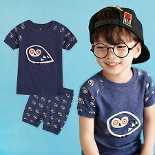 "NWT Vaenait Baby Infant Kids Boy Short Pajama set Outfit Clothes ""Boowoo"" 2T-5T"