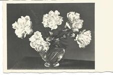 Postkarte Blumen in Vase, Kupfertiefdruck, s/w wohl 20ér Jahre