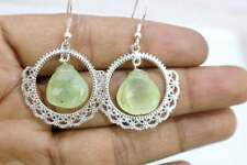 Beautiful Prehnite Heart Silver Earring,92.5 Silver Jewelry Gift For you love