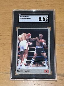 1991 AW Sports Boxing SGC 8.5 Highest POP 1 #21 Marvin Hagler RC Rookie