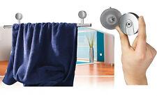 Noble Diseño Cromo Bad Soporte de toallas Barra para toallas VENTOSA Sistema