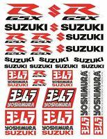 Suzuki GSXR Ensemble autocollants stickers GSX-R 600 1000 Yoshimura 750 WHT /124