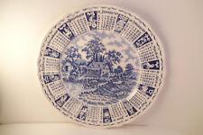Vintage Alfred Meakin Blue Transfer 1969 Calendar Plate God Bless Our House