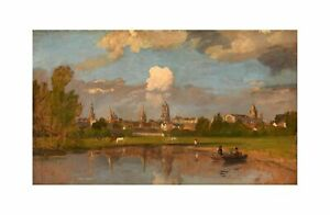 William Turner - Oxford from the River with Christ Church Print 61x91.5cm