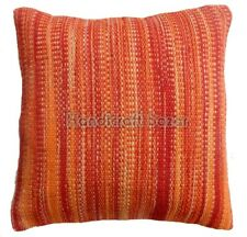 """Handmade Woven Cushion Cover Square 18"""" Decorative Vintage Jute Rug Pillow Cases"""
