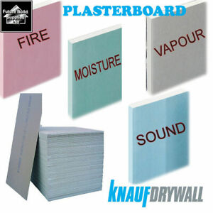 Plasterboard Sheets 8x4 2400mm x 1200mm 12.5mm Thickness Square & Tapered Edge