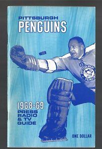 ORIGINAL 1968-69 PITTSBURGH PENGUINS NHL MEDIA GUIDE YEARBOOK FACT BOOK