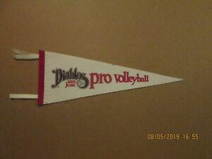 IVA San Jose Diablos Pro Volleyball Vintage Defunct Circa 1979 Team Logo Pennant