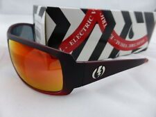 Electric CHARGE Sunglasses Crimson Red - Grey Fire Chrome