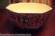 "EMPIRE PORCELAIN CO Staffordshire,10 sided bowl, lusterware inside,4 3/4""H [7]"