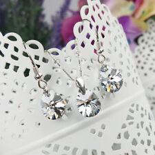 Schmuck Set mit ORIGINAL SWAROVSKI ELEMENTS Silberkette Silber 925 Kristall