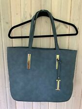 Imoshion Women's Bag-in-bag Tote Blue Gold Accents Zip Closure