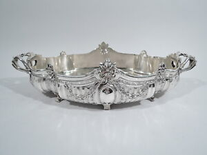 Antique Jardiniere - Neoclassical Centerpiece Planter Bowl - French 950 Silver
