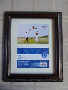 Rustic Wood Picture Frames One 8 x 10 and Two 4 x 6 Photo Frame Brown 3 Pack