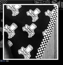Hot rod bandana. 54cm. Voodoo Street logo print. New. Black. Free sticker.