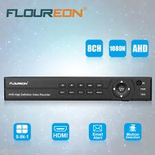 8CH 1080P AHD HDMI CCTV Caméra Sécurité DVR Enregistreur Surveillance Système FR