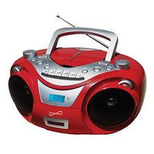 Supersonic SC-709 Portable MP3/CD Boombox +Cassette Recorder, AM/FM & USB Input