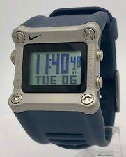 a91e955077cb4 Nike Hammer WC0034 Navy Blue   Steel LeBron James Basketball Sport Mens  Watch