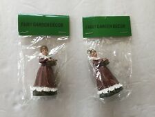 Miniature FAIRY GARDEN ~ Lady In red Dress ~ New ~ Sold individually