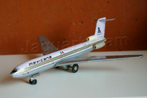 Mexican Vintage Toy Tin Airplane Scale Model POLIUMEX Mexicana Boeing 727-200