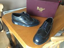 Dr Martens 3989 Azul Arcadia Brogue Zapatos UK 7 EU 41 Piel Ska Mod De Inglaterra