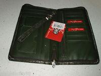 New FIB L Tab/Zip Around Passport iPhone Card Money Safe Travel Wallet Organizer